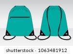 drawstring bag design turquoise ... | Shutterstock .eps vector #1063481912