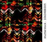 seamless pattern patchwork...   Shutterstock . vector #1063488305