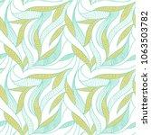 leaves pattern. seamless...   Shutterstock .eps vector #1063503782