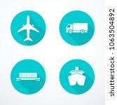 set of transportation icons.... | Shutterstock .eps vector #1063504892