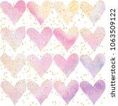 pastel watercolor design with... | Shutterstock . vector #1063509122