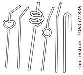 vector set of straw | Shutterstock .eps vector #1063521836
