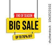 sale banner template design ... | Shutterstock .eps vector #1063523102