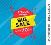 sale banner template design ... | Shutterstock .eps vector #1063523105
