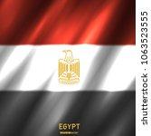 national egypt flag background. ... | Shutterstock .eps vector #1063523555