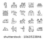 refugee icon set. included the... | Shutterstock .eps vector #1063523846