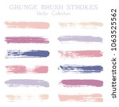watercolor  ink or paint brush... | Shutterstock .eps vector #1063525562
