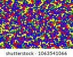 seamless bright colorful pixel... | Shutterstock .eps vector #1063541066