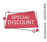special sale banner  discount... | Shutterstock .eps vector #1063551896
