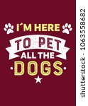 pets quote paw poster distress... | Shutterstock .eps vector #1063558682