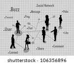 social networking background... | Shutterstock .eps vector #106356896