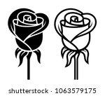rose logo   vector illustration ... | Shutterstock .eps vector #1063579175