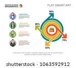 four elements percentage chart... | Shutterstock .eps vector #1063592912