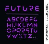 modern future font design vector | Shutterstock .eps vector #1063595882