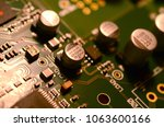 close up of electronic circuit... | Shutterstock . vector #1063600166