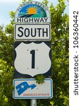 Highway Sign No1 Florida Keys