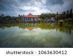ujung water palace is a former...   Shutterstock . vector #1063630412