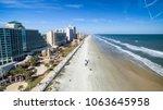 Aerial view of Daytona Beach, Florida.