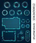 set of hud circle  frame for... | Shutterstock .eps vector #1063650812