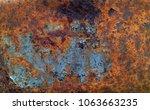 iron rust  rust background. | Shutterstock . vector #1063663235