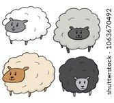 vector set of sheep | Shutterstock .eps vector #1063670492
