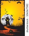 halloween night  vector... | Shutterstock .eps vector #106367582