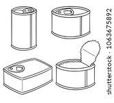 vector set of can | Shutterstock .eps vector #1063675892