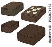 vector set of brownie | Shutterstock .eps vector #1063676192