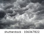 Small photo of Background of storm clouds before a thunder-storm