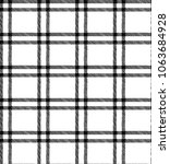 double windowpane sketchy plaid ... | Shutterstock .eps vector #1063684928