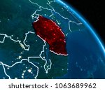 satellite view of tanzania... | Shutterstock . vector #1063689962