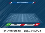 football or soccer playing... | Shutterstock .eps vector #1063696925