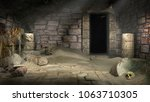 ancient egyptian tomb with... | Shutterstock . vector #1063710305