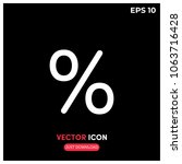 percent vector icon...
