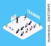isometric learning concept... | Shutterstock .eps vector #1063718945