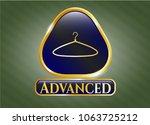 gold shiny emblem with hanger...   Shutterstock .eps vector #1063725212