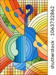 illustration in stained glass... | Shutterstock .eps vector #1063732862