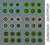 cogwheel colorful set of six...