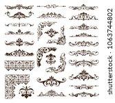 vintage floral ornaments design ... | Shutterstock .eps vector #1063744802