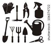 a set of gardening tool...