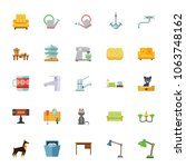 icon set of household equipment.... | Shutterstock .eps vector #1063748162