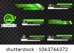set of video headline title or... | Shutterstock .eps vector #1063766372