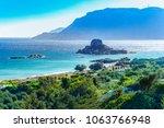 kos island  greece  coast view... | Shutterstock . vector #1063766948