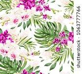 beautiful watercolor pattern... | Shutterstock . vector #1063777766