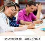 group of friends studying... | Shutterstock . vector #106377815