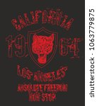 california tattoo tiger graphic ... | Shutterstock .eps vector #1063779875