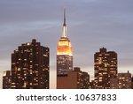 midtown manhattan skyline at... | Shutterstock . vector #10637833