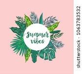 green palm leaves template...   Shutterstock .eps vector #1063783532