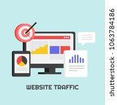website traffic  website data ... | Shutterstock .eps vector #1063784186