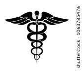 caduceus symbol icon. medicine... | Shutterstock .eps vector #1063785476
